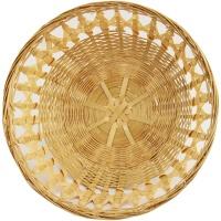 Osterkorb rund Bambusschale rund 1 Stück Körbchen ca. 24-25cm