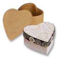Pappboxen Herz braun, 10 Stück