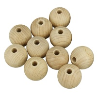 Holzperlen 20mm Holzkugeln 20mm 10 Stk. Rohholzperlen, Rohholzkugeln