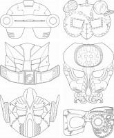 Kindermasken Weltraum 6 verschiedene Motive