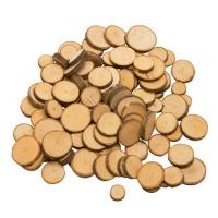 Astscheiben zum Basteln 100 Stück rund naturbelassen aus Holz