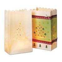 Lichtertüte aus Papier Weihnachtsbaum, 5 Stück